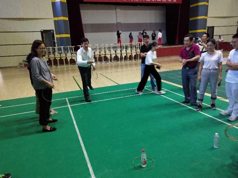 九江三中教工运动会个人比赛项目拉开战幕